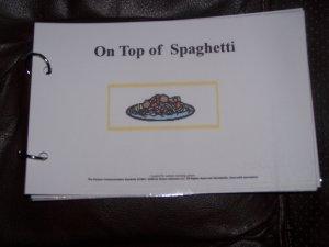 On top of Spaghetti book Autism PECS
