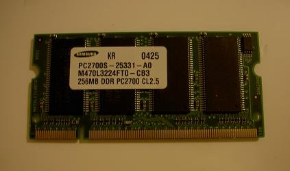 PC2700 Laptop Ram Memory 256MB