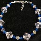 Swarovski crystals in capri blue and crystal clear AB- Bracelet