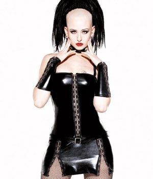 Darque PVC VINYL LATEX LIQUID  Wet LOOK  Dress Hook n Eye