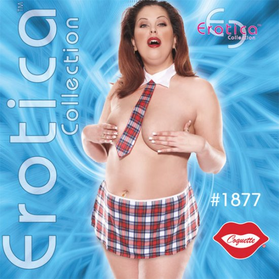 Sexy School Girl 3 pc Set Plus Size 1X-3X   Adult Costume