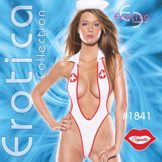 2 Pc Sexy Nurse with Head Piece Erotic