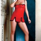 Mesh chemise with lace and matching g-string