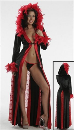 Sexy Sequin Hooded Gown  Feather Boa PLUS SIZE