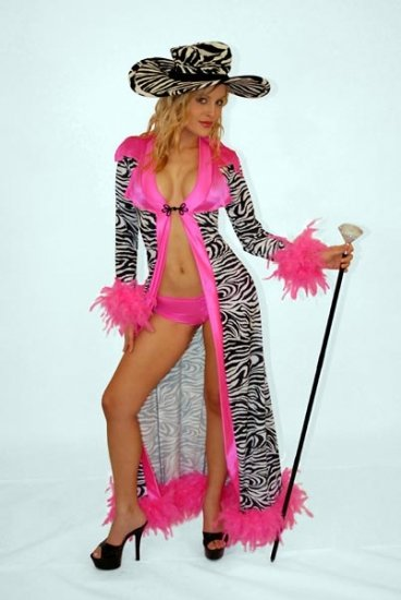 Drag Queen Size STAGE Costume Dress Zebra Print