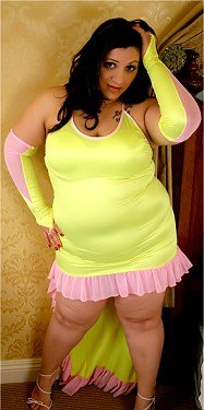 Ruffled Lycra Dress Plus Size 1X-8X