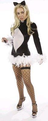 Pussy Cat Costume Black Velvet Plus Size
