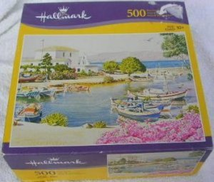 Hallmark 500 piece interlocking jigsaw puzzle Finished will be 18 x 24in Scene is The Docks