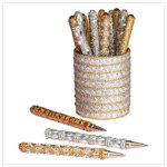 Glittering Gold and Silver Pen Set(34545)