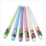 Floral Taper Candle Set(33550)