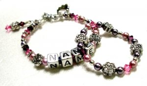 Purple Delight Bracelet and Anklet Set