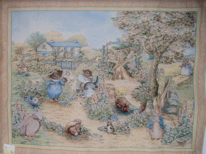 Beatrix Potter Peter Rabbit 3 Little Kittens Tapestry Wall Hanging