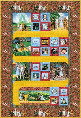 Wizard of Oz Follow the Yellow Brick Road Fabric Quilt Kit Sewing Quilting Treasures
