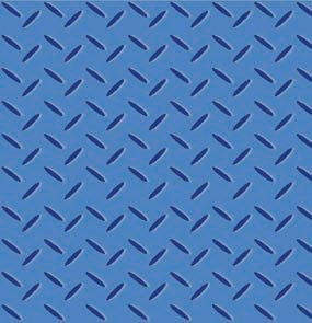 Avlyn Heavy Duty Construction Blue Safety Diamond Plate Cotton Fabric