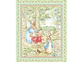 Beatrix Potter Peter Rabbit and Friends Quilt Top Wall Hanging Baby Nursery Fabric Panel