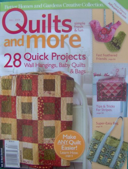 Better Homes And Gardens Quilts And More Fall 2008