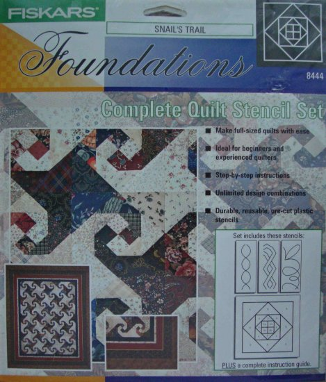 Fiskars Snail's Trail 8444 Quilt Stencil Set Pattern Template for Foundation Piecing