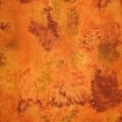 LAST PIECE! Timeless Treasures Dark Gold Brown Tie Dye Cotton Quilt Fabric 7/8 Yard Bolt End