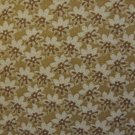 F8 Thimbleberries Cream & Brown Flower Toss on Tan Sepia RJR Lynette Jensen Fabric Fat Eighth F8th
