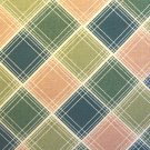 F8 Thimbleberries Daisy Days Green Pink Plaid RJR Lynette Jensen Quilt Fabric Fat Eighth F8th