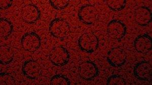 FQ Thimbleberries Evergreen Inn Black Circles on Burgundy Red RJR Lynette Jensen Fabric Fat Quarter