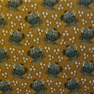 F8 Thimbleberries Turquoise Flower Toss on Brown RJR Lynette Jensen Fabric Fat Eighth F8th