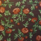 F8 Thimbleberries Pansy Park Flower Toss on Brown RJR Fabric Fat Eighth F8th