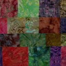 Indonesian Hand Wax Batik Cotton 22 Fabric Swatches