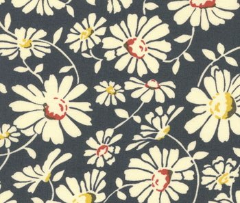 1 1/3 Yards MODA AMERICAN JANE Wee Play Navy Blue Daisies RETRO QUILTING FABRIC Bolt End