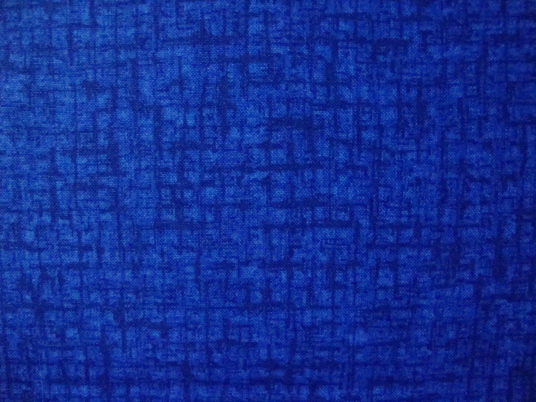 F8 Santee Blender Medium Blue Basket Weave Crosshatch Cotton Quilt Fabric Fat Eighth F8th