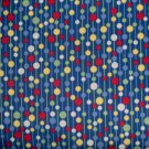 BTY Dick & Jane Pom Pom Dots on Blue Retro Kids Fabric by Michael Miller By the Yard