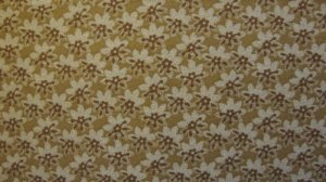 FQ Thimbleberries Cream &amp; Brown Flower Toss on Tan Sepia RJR Lynette Jensen Quilt Fabric Fat Quarter