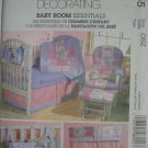 McCall's Home Decorating Baby Room Essentials Nursery Pattern M4855