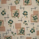 FQ Thimbleberries Tan Flower Blocks on Cream Gingham Daisy Days RJR Cotton Quilt Fabric Fat Quarter