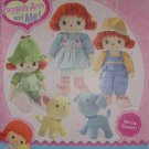 "Simplicity Raggedy Ann and Me! 16"" Doll 8"" Dog and Cat plus Clothing Sets Pattern # 2387"