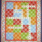 Crossword Puzzle Quilt and Pillow Pattern SND388 by Seams & Dreams