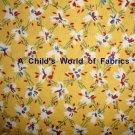 FQ Thimbleberries Daisy Days Floral Lattice on Yellow RJR Cotton Quilt Fabric Fat Quarter