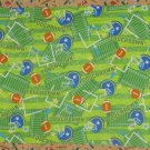 Handmade Football Stadium Flannel and Vellux Hand Quilted Lap Quilt Blanket