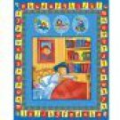 Paddington Bear ABC's Quilt Top Wall Hanging Baby Kids 100% Cotton Quilting Fabric Panel