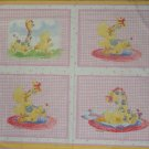 Little Suzy's Zoo Pink Pillow Quilt Blocks Wall Hanging Fabric Panel by Suzy Spafford