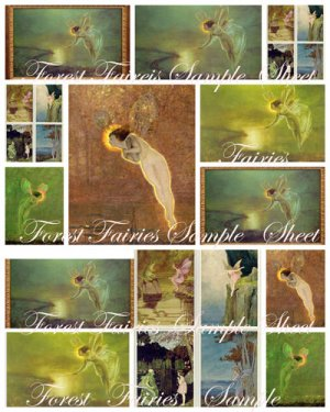 Fairies Digital Collage Sheet