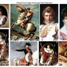 Napoleon Bonaparte and Josephine Digital Collage sheet.