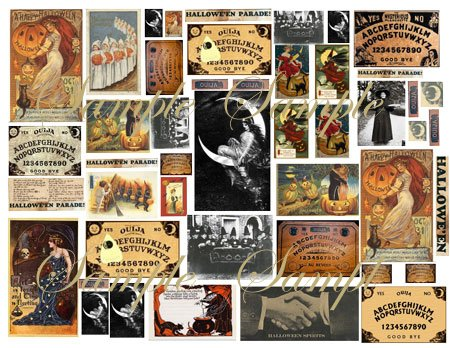 Collage Sheets Witches & Ouija Boards  130