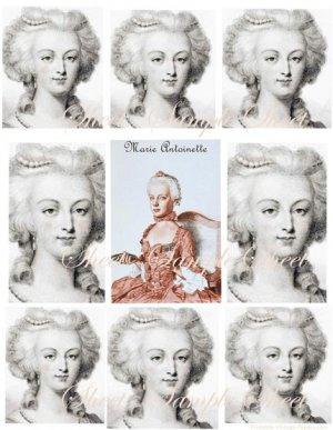 Digital Collage Sheets Marie Antoinette Paris Pink  EC116