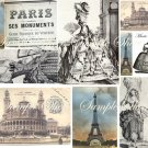 Paris Prints Marie Antoinette Digital Collage Sheet EC144