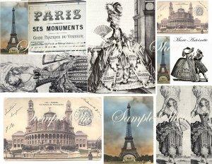 Paris Prints Marie Antoinette Digital Collage Sheet EC144