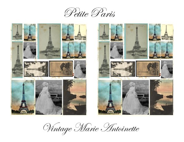 Petite Paris Marie Antoinette Digital Collage Sheet EC141