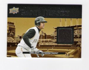 Chris Duffy Pittsburgh Pirates Jersey Card
