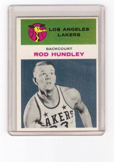 Hot Rod Hundley Los Angeles Lakers 1961-62 Fleer # 21
