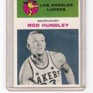 Hot Rod Hundley Los Angeles Lakers 1961-62 Fleer # 21
